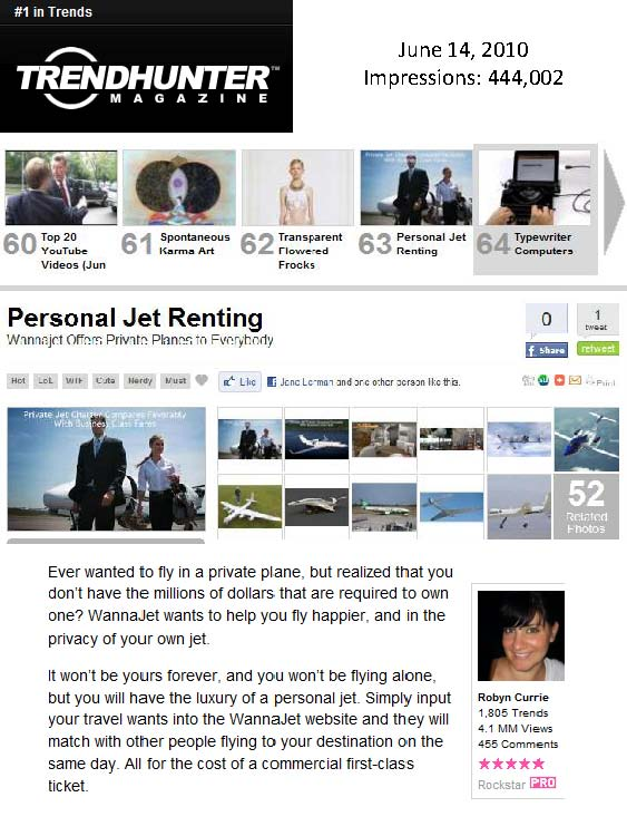 Coolest Trends Right Now: WJ on TrendHunter.com ( Travel PR)