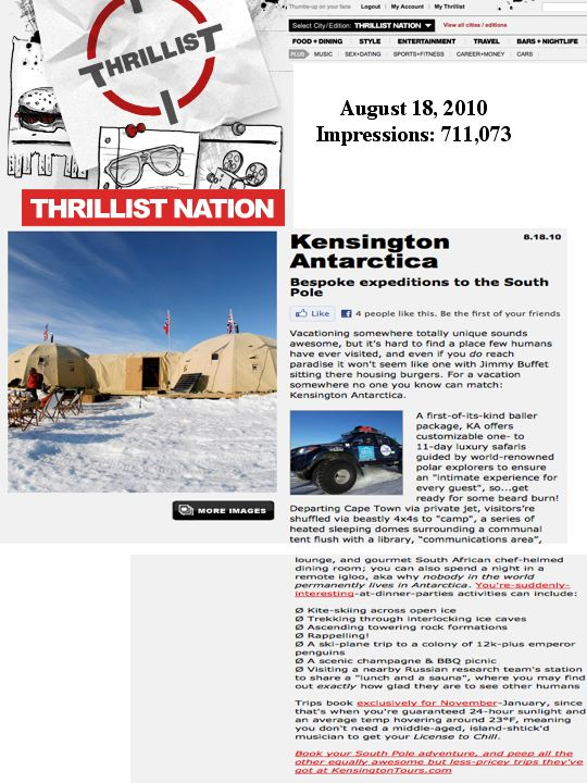 Check Out KT's Antarctica Trip Featured on Thrillist! (Travel PR)