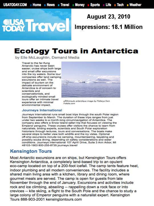 KT on USA Today- New one from the Travel Public Relations team