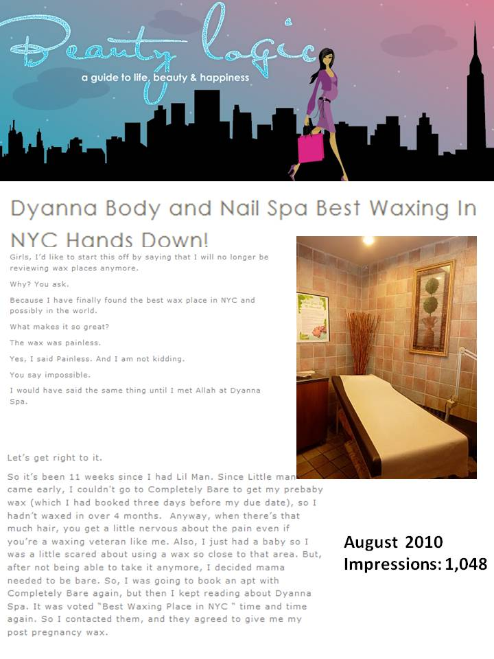 Check Out Dyanna Spa's Incredible Waxing Reviewed as the Best Spa for Wax in NYC! (Beauty PR)