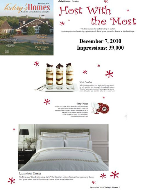 Luxor Linens in Today's Homes - Interior Design/ Home Decor PR