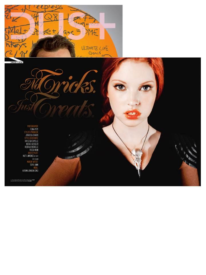 Julia deVille featured in D-List magazine