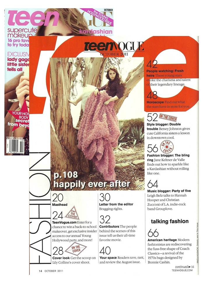 Young&ng featured in Teen Vogue's October Issue