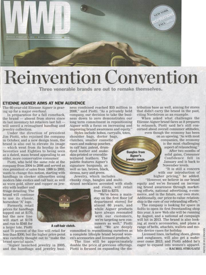 Etienne Aigner Featured in WWD's 'Reinvention Convention'