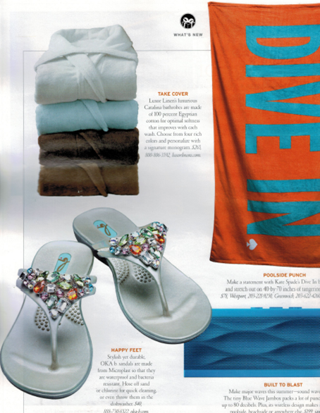 Luxor Linens featured in Connecticut Cottages & Garden's June Issue