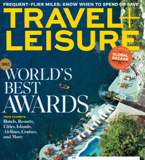 Travel + Leisure Features Kensington Tours in August 2012 Issue