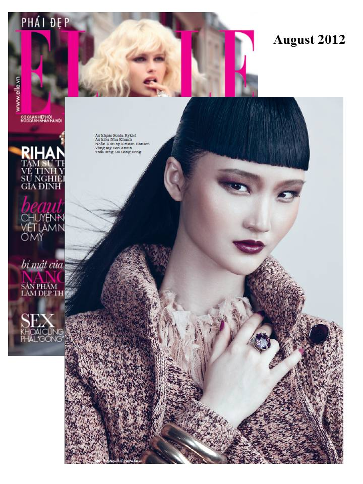 Kristin Hanson & Young&ng featured in ELLE Vietnam's August 2012 issue