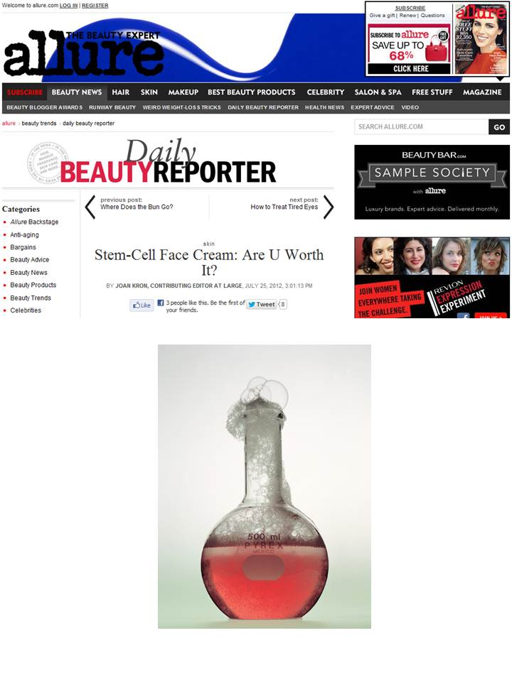 Personal Cell Sciences Featured in Allure