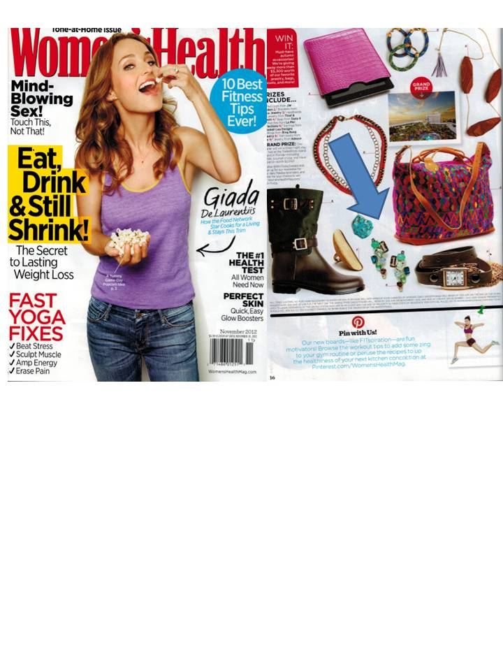 Rebekah Lea Jewelry Featured in Women's Health November 2012