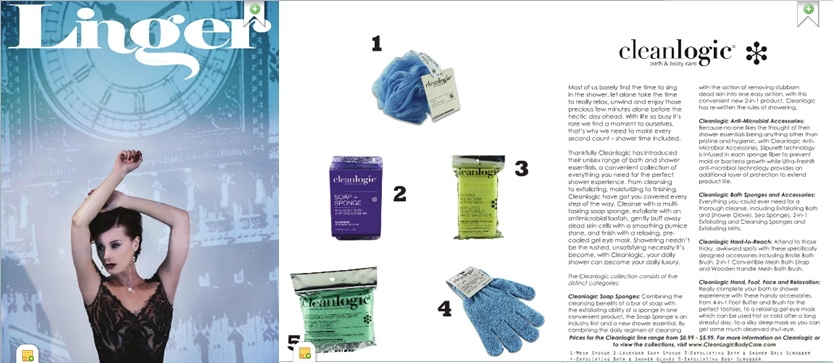 Cleanlogic Featured in December Issue of Linger Magazine!