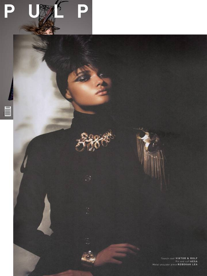 Rebekah Lea Shoulder Cuff in PULP Magazine