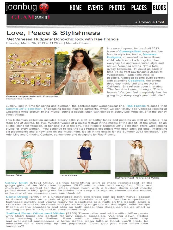 Rae Francis featured on Joonbug.com