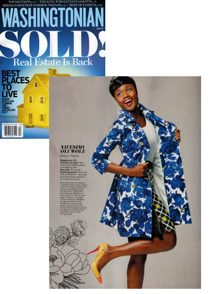 """S K I N N Y HIPSTER"" wearing Rae Francis in Washingtonian Magazine"