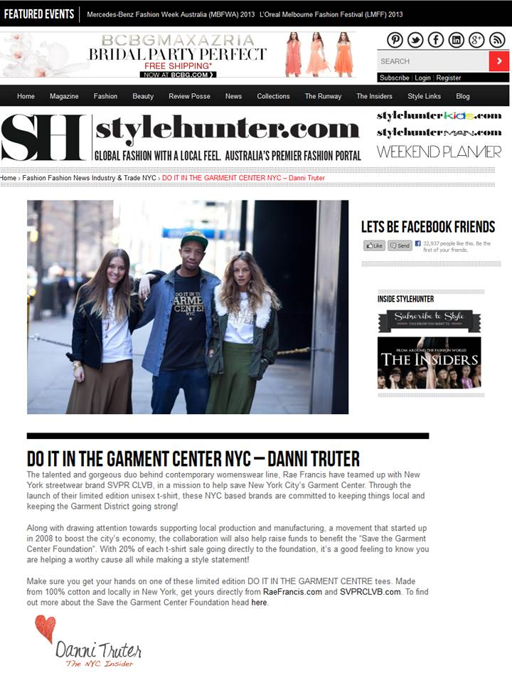 Rae Francis featured on StyleHunters.com