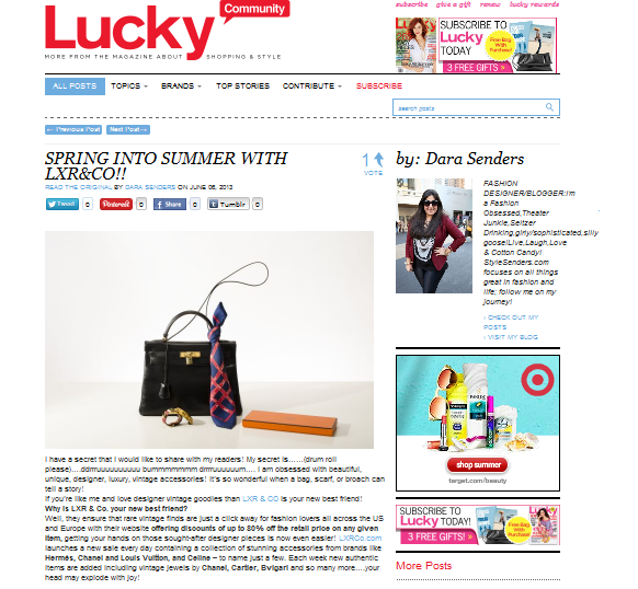 LXR on Lucky Magazine