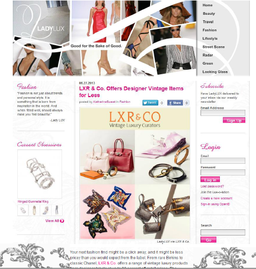LXR & Co. on LadyLux.com