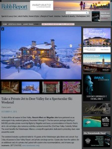 """Resorts West """"Holiday Memories Package"""" on RobbReport.com"""