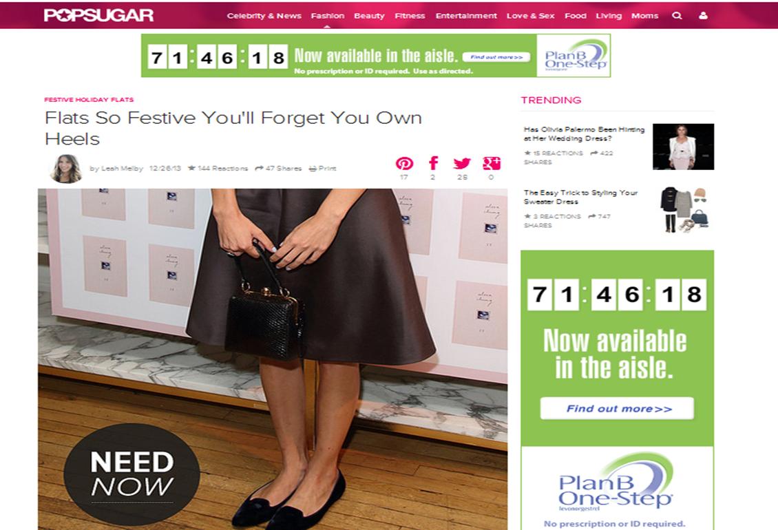 Carolinna Espinosa for the Perfect Holiday Flat on FabSugar.com