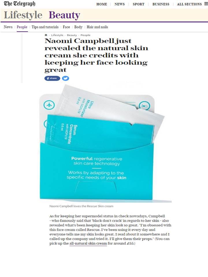 Rescue Skin Care Cream for The Telegraph